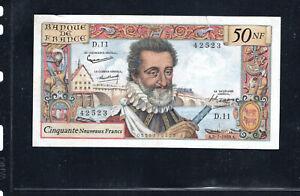 Billet 50 Nouveaux Francs Henry IV 02/07/59 TTB+ Fay 58-02