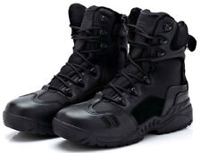 NEW TACTICAL MILITARY BLACK LEATHER COMBAT BOOTS UK SIZE 8, 8.5 & 9 - RRP £40