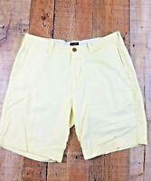 J. CREW Gramercy Men's Yellow Flat Front Cotton Shorts Size 32x9