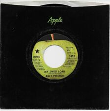 BILLY PRESTON, MY SWEET LORD b/w LITTLE GIRL, ORIGINAL 45 w/star on label, MINT-