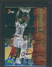1995 Kevin Garnett CLASSIC RED AUTO Signature ROOKIE RC TIMBERWOLVES /1,995