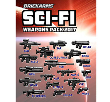BRICKARMS Sci-Fi Weapons Pack 2017 for Lego Minifigures Limited Edition