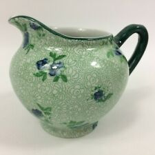 Antique Jug Furnivals Limited England Tapestry Pattern Date Marked c1914 Green