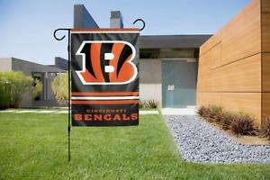 Cincinnati Bengals Garden Flag 2 Sided Outdoor Window Yard Banner New