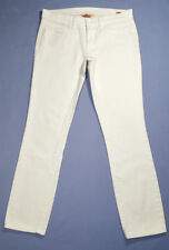 Tory Burch Women Jeans Super Skinny Logo Embroidered Back Pockets White Size 28