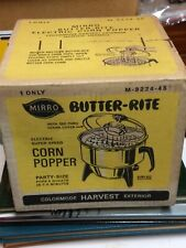 Mint In Box Sealed Mirro Butter Rite Corn Popper Harvest Exterior