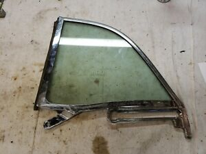 1957-195 SKYLINER RETRACTABLE LEFT REAR WINDOW FRAME GLASS CONVERTIBLE DRIVER