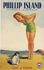 Vintage Travel Poster Phillip Island Victoria Australia 37.4 x 24 inch