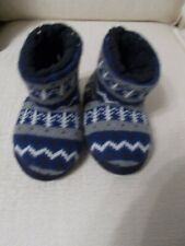 M&S BABY BOYS INFANT 9 SLIPPERS NEW