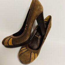 Miss Sixty Womens Shoes Heels Vintage Style Boho  SZ 7 -EU 37 Made In Italy EUC