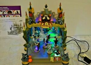 Lemax Spooky Town Monsters Ball #54302 Halloween Village- Lights, Sound Animated