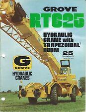 Equipment Brochure - Grove - Rt625 - Hydraulic Crane - 2 items - c1977 (E4049)