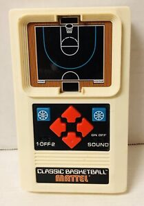 Mattel Classic Basketball Game Electronic Sound Retro Style Handheld 2003