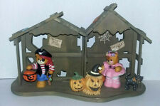 New Listing5pc Vtg 1994 Rigg Enesco Halloween Lucy & Me Pirate & Ballerina Wooden Display