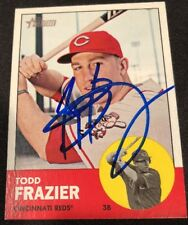 Todd Frazier Reds Signed Auto Autographed 2012 Topps Heritage Card #133 ~ COA