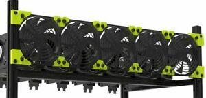 Fan Bracket - 6 GPU Veddha Mining Rig - Plastic Fan Mounting Bracket 120mm Fans