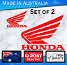 Honda style sticker Wings- Red set of 2 JDM,  Civic Nissan Subaru Outboard decal