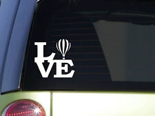 "Hot Air balloon Love 6"" STICKER *F140* DECAL basket balloons rope blower sand"