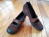 Merrell Plaza Bandeau Espresso Womens Mary Jane Wedge Comfort Shoes Strap sz 6