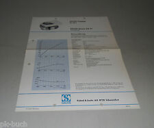 Typenblatt / Technische Daten Sachs Rasenmäher Motor SB 97 - Stand 1968!