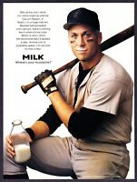 1996 Baseball Legend Cal Ripken Jr. Mustache photo MILK vintage print ad