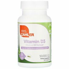 Zahler Vitamin D3 50 000 IU 120 Vegetable Capsules Gluten-Free, GMP Quality
