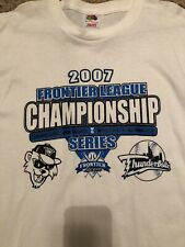 Windy City Thunderbolts 2007 Frontier League Championship Series T Shirt Size L
