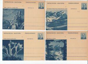Wg107/ CSSR Ganzsache 149 Bildpostkarten Slowakei (kompl. Serie 8 Karten) *