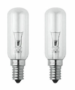 SES Cooker hob hood 2x extractor light bulbs 40W E14 SES Small Edison Screw