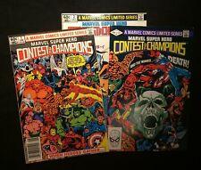 Marvel Super Hero Contest of Champions Vol. 1 #1-3  June-July 1982  8.0-8.5 VF+