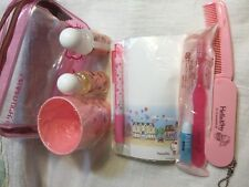 Hello Kitty 7Piece Gift Set Tote TOOTH BRUSH, CUP, CONDITIONER  Shampoo COMB