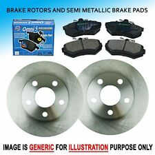 FK0320 Fits 2001-2003 Acura CL 3.2L V6 REAR L + R Brake Rotors & Pads Set