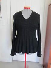 436f56a3ca Sz Large Antonio Melani Addie Peplum Sweater Dark Black Cable Knit