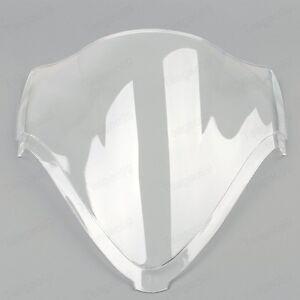 Clear Double Bubble Windscreen Windshield  For Suzuki Hayabusa GSXR1300R 08-16