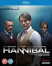HANNIBAL Stagioni 1-3 Serie Complete BOX 12 BLURAY in Inglese NEW .cp