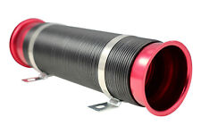 "RED BLACK UNIVERSAL 3"" 75mm FLEXI AIR INTAKE INDUCTION PIPE HOSE"