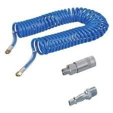 10 mtr Recoil air hose complete with quick release pcl style air fittings.