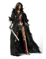 "VSTOYS 1/6 Black Wonder Woman Cloak Long Coat F 12"" Female Action Figure Body"