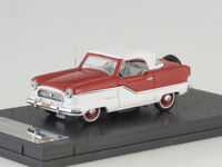 1/43 Scale model, Nash Metroplitan Coupe 1959 red/white