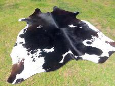 NEW LARGE ! BLACK & WHITE Cowhide Rug natural Cowhides Cow Hide Skin 6X6 FEET BB