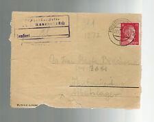 1944 Germany Ravensbruck Concentration Camp Lettersheet Cover KZ Arbeitslager