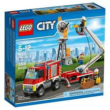 Lego City Town 60111 FIRE UTILITY TRUCK Trailer satellite dish extinguisher NISB