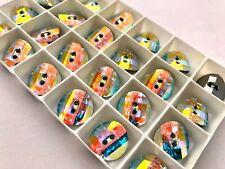 Crystal AB MF 16mm Swarovski Round Buttons (6 Pieces) #3016