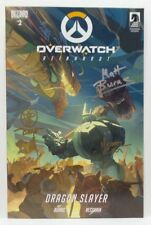 OVERWATCH Reinhardt signed by Matt Burns Arnold Tsang, Michael Chu RARE! HTF!