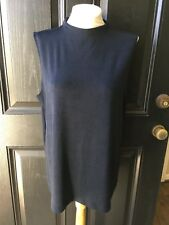 New Chico's Travelers India Ink Navy Blue Mock Neck Tank Top Sz 3 = XL 16 18 NWT