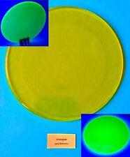 Uranglas Scheibe 20 cm, 600 Gr. - Prüfstrahler Geigerzähler