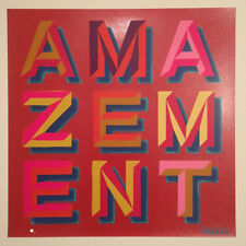 * BEN EINE - AMAZEMENT * SIGNED PRINT * RUBY GLITTER EDITION *