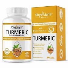 Organic Turmeric Curcumin C3® Complex - Bioperine Black Pepper, Boswellia Ginge