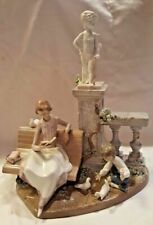Lladro Large Figure ~ Studying In The Park #5425 ~ Retired 1991 Rare Mint Htf