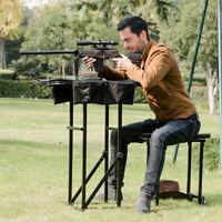 Ironmax Folding Shooting Bench Seat Adjustable Table Gun Rest Height Adjustable